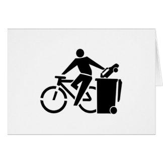 Ride A Bike Not A Car Card