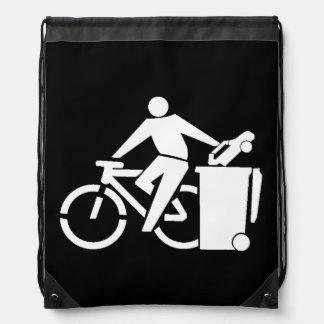 Ride A Bike Not A Car Drawstring Bag