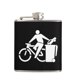 Ride A Bike Not A Car Hip Flask