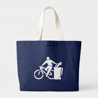 Ride A Bike Not A Car Large Tote Bag