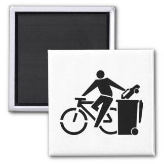 Ride A Bike Not A Car Magnet