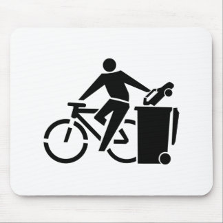 Ride A Bike Not A Car Mouse Pad