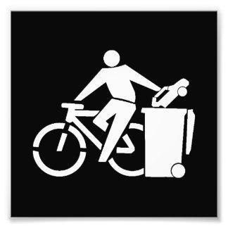 Ride A Bike Not A Car Photo Print
