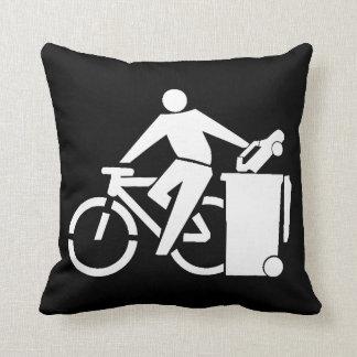 Ride A Bike Not A Car Throw Pillow