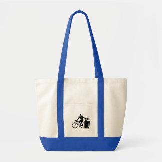 Ride A Bike Not A Car Tote Bag