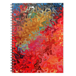 Ride Abstract 5.5 Spiral Note Book