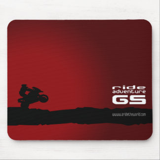 Ride-Adventure-GS black on red Mouse Pads