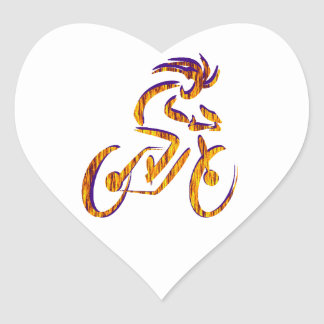 RIDE AND RHYTHM HEART STICKER