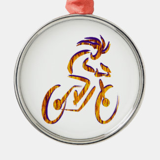 RIDE AND RHYTHM Silver-Colored ROUND ORNAMENT
