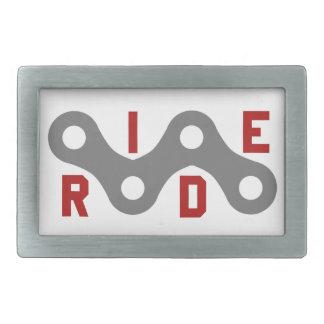 Ride (Chain) Rectangular Belt Buckles