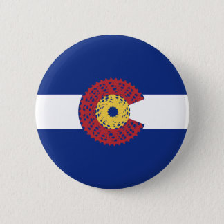 Ride Colorado (Bicycle Cassette) 2 Inch Round Button