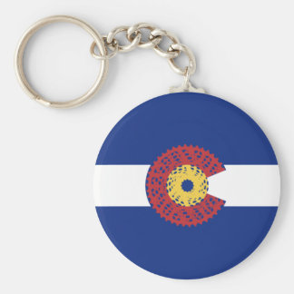 Ride Colorado (Bicycle Cassette) Keychain