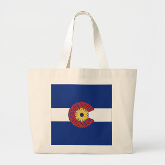 Ride Colorado (Bicycle Cassette) Large Tote Bag