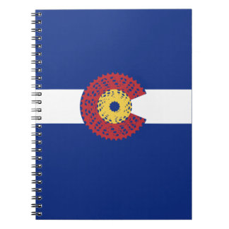 Ride Colorado (Bicycle Cassette) Notebook