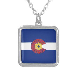 Ride Colorado (Bicycle Cassette) Silver Plated Necklace