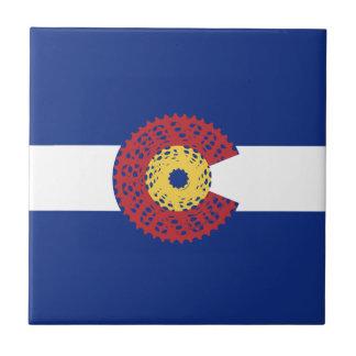 Ride Colorado (Bicycle Cassette) Tile