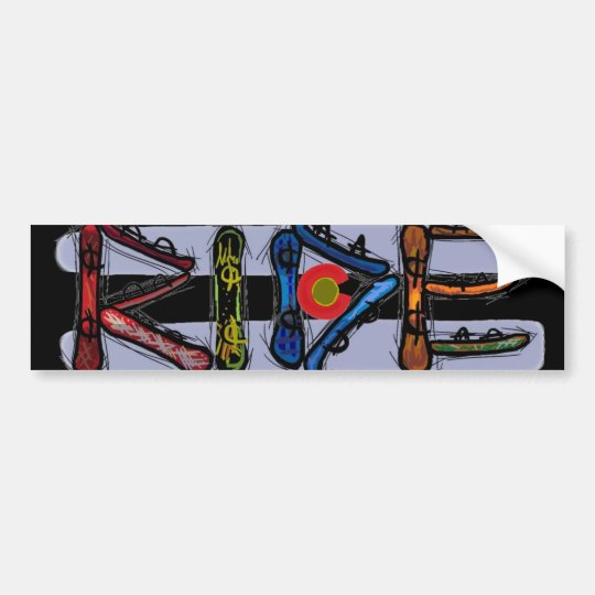 Ride Colorado snowboard bumpersticker Bumper Sticker