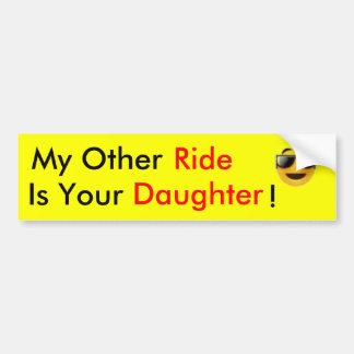 ride daughters. bumper sticker