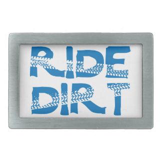 Ride Dirt Rectangular Belt Buckle