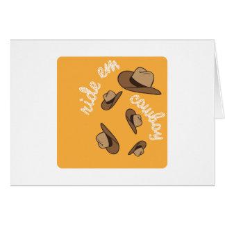 Ride Em Cowboy Card