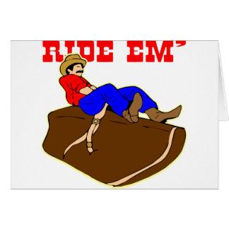 Ride 'Em Cowboy Greeting Card