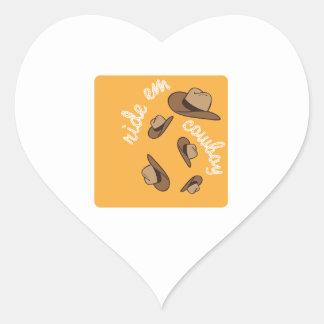 Ride Em Cowboy Heart Sticker
