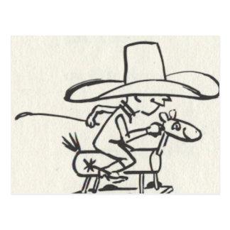 Ride em Cowboy Postcard