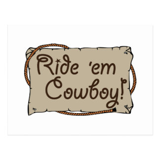 Ride 'em Cowboy! Postcard