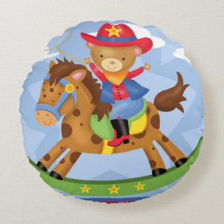 Ride-em' Cowboy Round Pillow