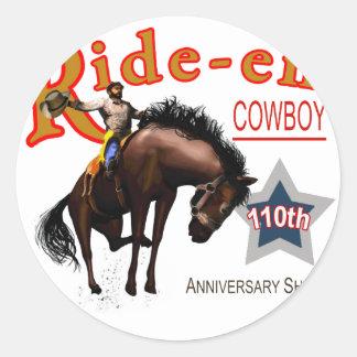 Ride-em Cowboy! Round Sticker
