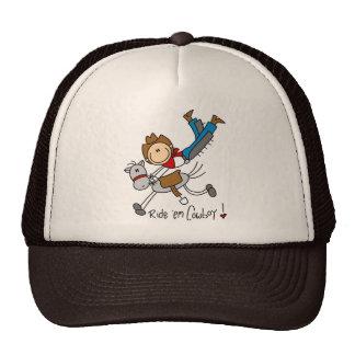 Ride 'Em Cowboy Stick Figure Hat