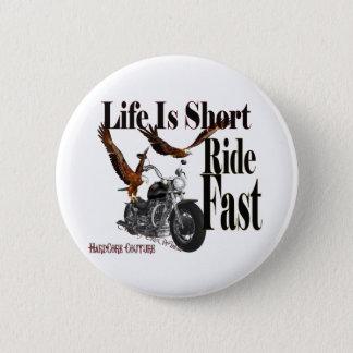 ride fast 2 inch round button