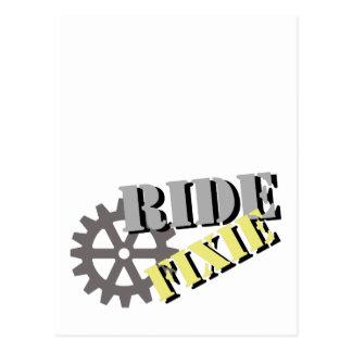 Ride Fixie Postcard