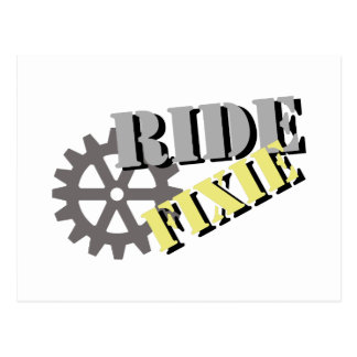 Ride Fixie Postcard