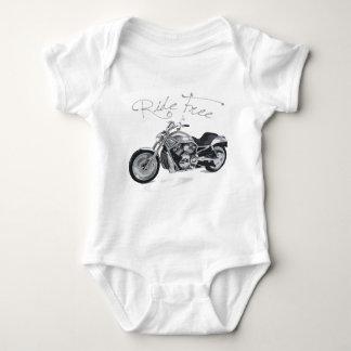 Ride Free Harley Davidson Baby Bodysuit