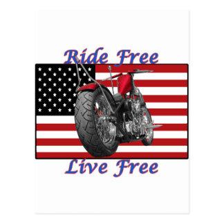 Ride Free Live Free Postcard