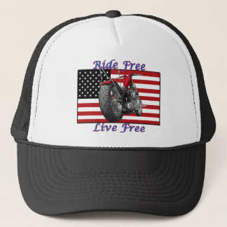 Ride Free Live Free Trucker Hat