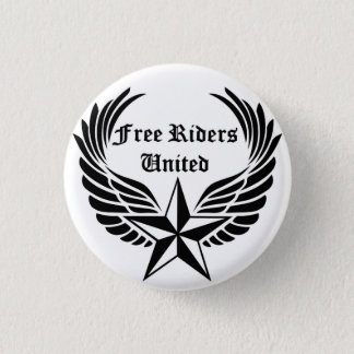 Ride Free with Free Riders United Apparel 1 Inch Round Button