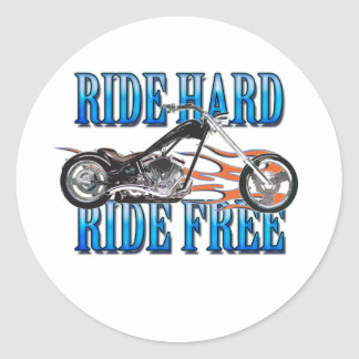 Ride Hard Classic Round Sticker