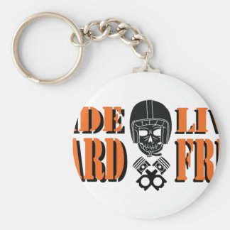 Ride Hard Live Free Basic Round Button Keychain