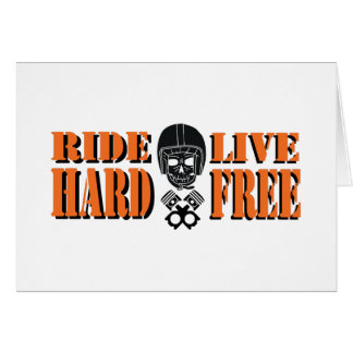 Ride Hard Live Free Card