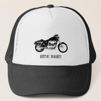 RIDE HARD Motorcycle trucker hat