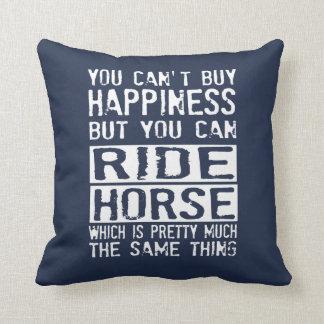 RIDE HORSE THROW PILLOW