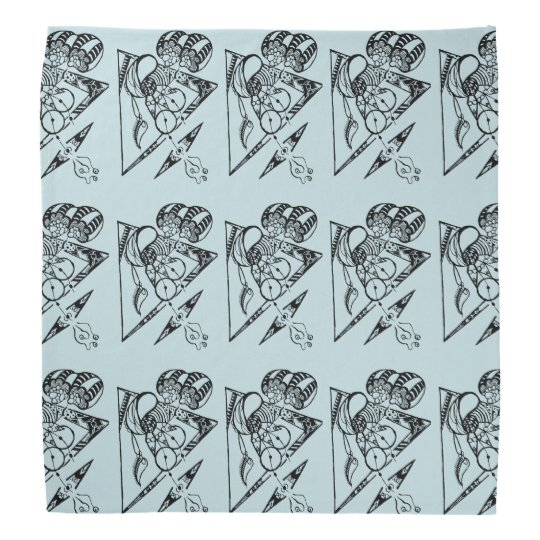 Ride in space bandana with cute character pattern