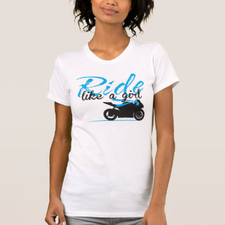 Ride Like A Girl - Electric Blue T-Shirt
