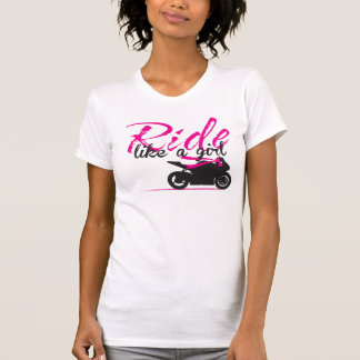 Ride Like A Girl - Hot Pink T-Shirt