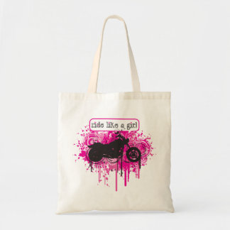 Ride Like A Girl - Paint Splatz Cruiser Tote Bag