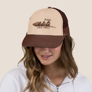 Ride Like Hell - copper Trucker Hat