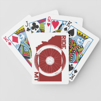 Ride Montana Bicycle Playing Cards