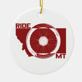 Ride Montana Ceramic Ornament